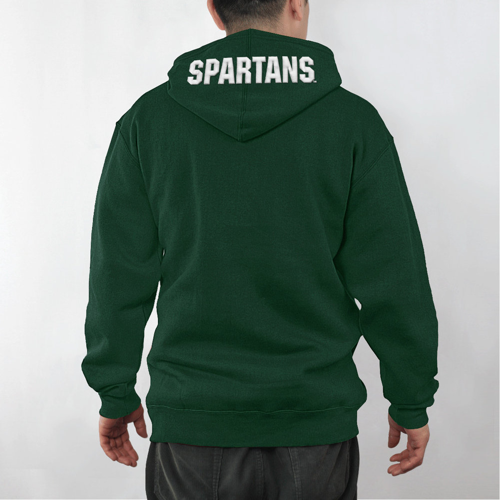 Michigan State Spartans  Embossed Hooded Sweatshirt Captain Image a